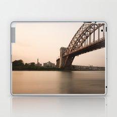 Hell Gate Bridge (NYC) at Sunset Laptop & iPad Skin