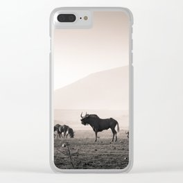 Herd of Wildebeest in South Africa Clear iPhone Case