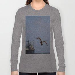 Bird on the Pier Long Sleeve T-shirt