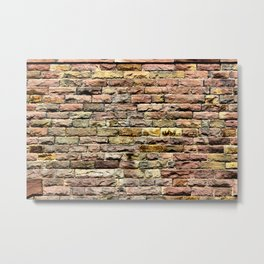 Pink bricks Metal Print