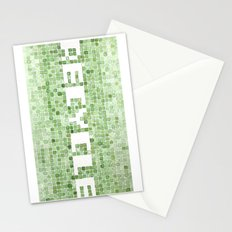 Recycle watercolor mosaic Stationery Cards