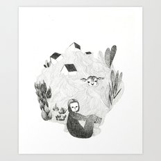 Tales from the sea Art Print