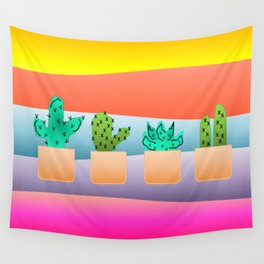 Sunset Cacti Wall Tapestry