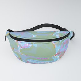 Turquoise and Lavender Fanny Pack