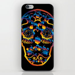 00  - COPERNICUS BLACK SKULL iPhone Skin