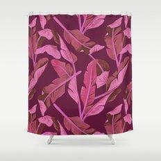 Tropical '17 - Ajaja [Banana Leaves] Shower Curtain