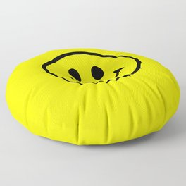 smiley face rave music logo Floor Pillow