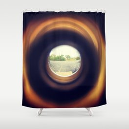Outside From Inside Shower Curtain