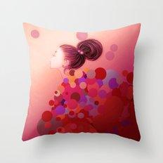 Pink○●◎ Throw Pillow