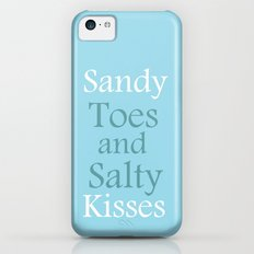 Sandy toes and salty kisses- the sea Slim Case iPhone 5c