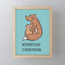 My favorite hugs Framed Mini Art Print