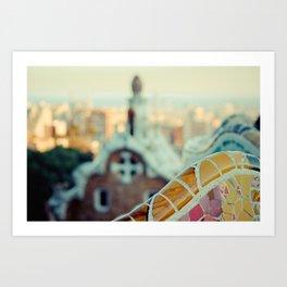Barcelona: Parc Guell Art Print