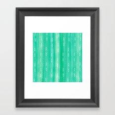tourmaline gem + arrows pattern Framed Art Print