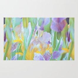 An Iris Abstract Rug
