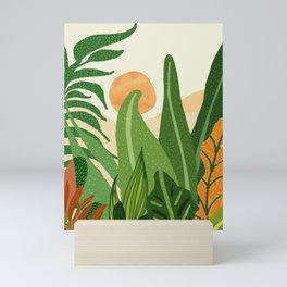 Summer In the Jungle / Contemporary Sunset Scene Mini Art Print