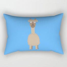 Brown Alpaca   Rectangular Pillow