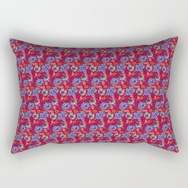 Red and blue Rectangular Pillow