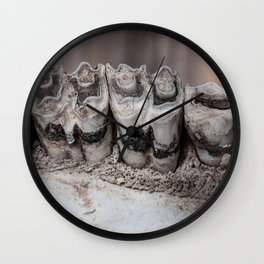Teeth (cow skull) Wall Clock
