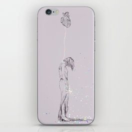 Heart me, no matter what. iPhone Skin