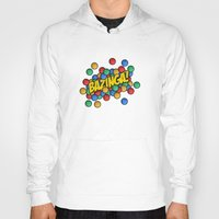 bazinga Hoodies featuring Bazinga! by Skeleton Jack