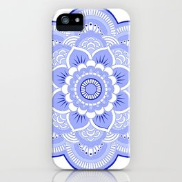 Periwinkle Mandala Flower iPhone Case