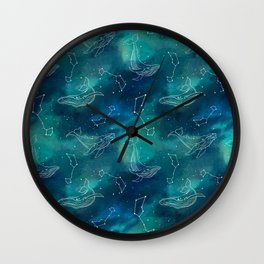 whale universe Wall Clock