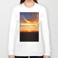 """volleyball Long Sleeve T-shirts featuring Hermosa Beach """"Volleyball"""" by Arturo Garcia"""