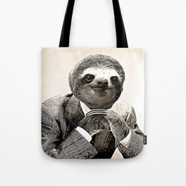 Gentleman Sloth with Assorted Pose Tote Bag