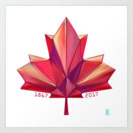 Canada 150 // Warm Art Print