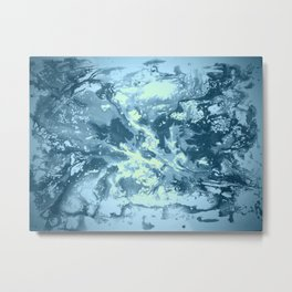 Liquid Colour Boom Metal Print