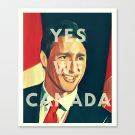 Yes We CANada! Trudeau Canvas Print