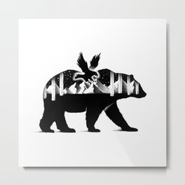 THE BEAR AND THE EAGLE Metal Print