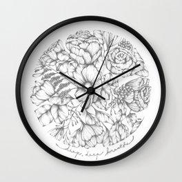 Deep, Deep Breaths Wall Clock