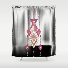 Vintage ethnic tribal aztec ornament Shower Curtain