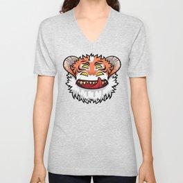 Diabolical Fuzzball (tiger) Unisex V-Neck