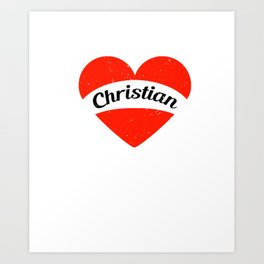 I'm in love with a Christian | Big heart and banner Art Print