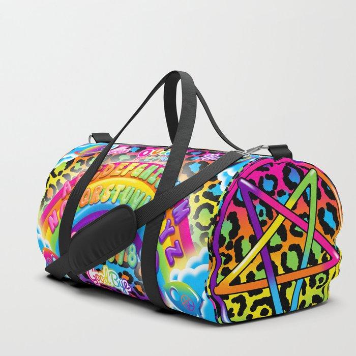 1997 Neon Rainbow Ouija Board Duffle Bag