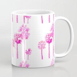 Tropical Pink Palms Coffee Mug
