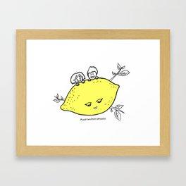 Lemon Love Framed Art Print