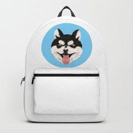 Happy Husky Puppy Backpack