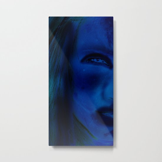 Blue Woman Metal Print