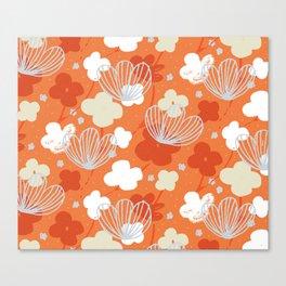 Spring Garden M+M Tangerine by Friztin Canvas Print