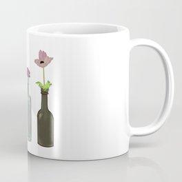 Flowers in Glass Bottles . Pastel Colors Coffee Mug