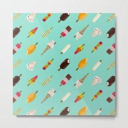 BG - ice lollies - topsy diagonal stripe Metal Print