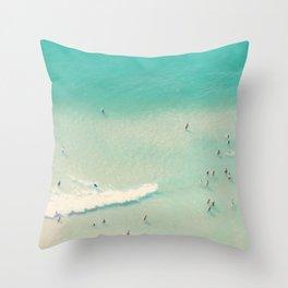 beach summer waves Throw Pillow