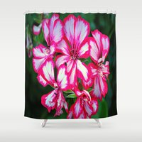 the xx Shower Curtains featuring flowers xx by  Agostino Lo Coco