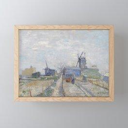 Montmartre - Windmills and Allotments by Vincent van Gogh Framed Mini Art Print
