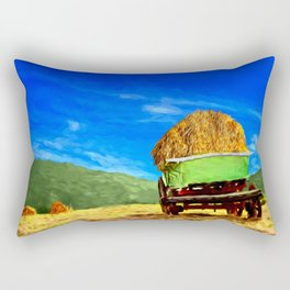 Hay Wagon Rectangular Pillow