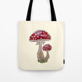 Fly Agaric Cream Tote Bag