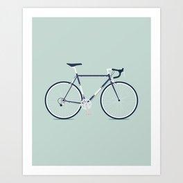 My Bike Violet Art Print